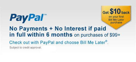 We now offer financing through PayPal's