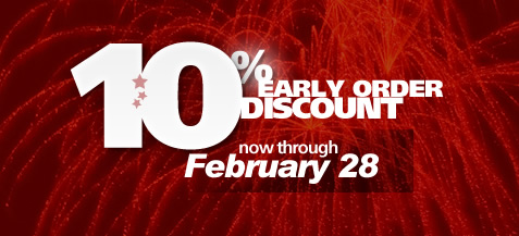 Our annual 10% early-order discount for wholesale orders is back!